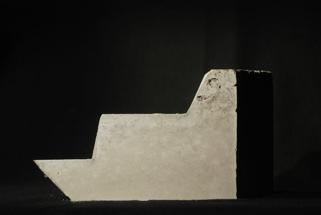 concrete cast of one piece