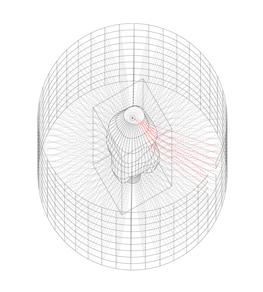 3. PROJECTION OF OUTSIDE PATTERN ON THE OUTSIDE SHAPE